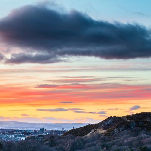 Western Edinburgh from the Braid Hills, Scotland. EH040