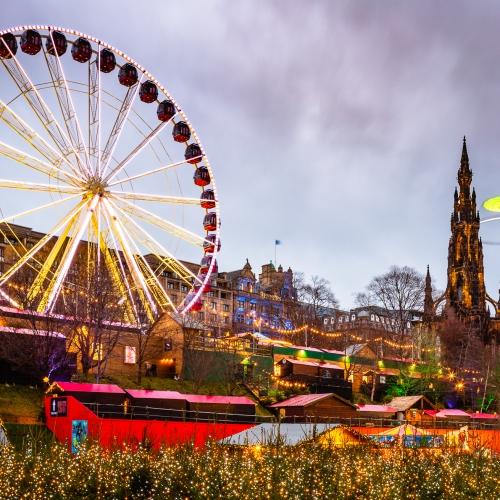 Giant Ferris Wheel in Princes Street Gardens Edinburgh, Scotland. EH007