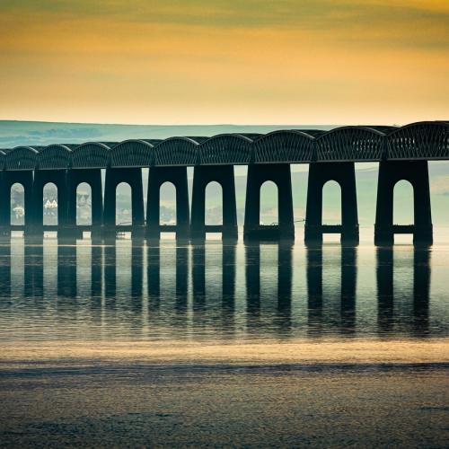 The Tay Rail Bridge, Dundee, Scotland. DD039