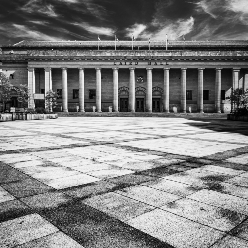 The Caird Hall and City Square, Dundee, Scotland. DD050