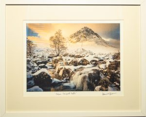 Framed Print of Frozen Coupall Falls
