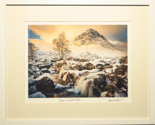 Framed Print of Frozen Coupall Falls