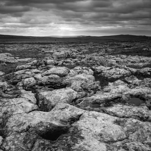 Limestone pavement near Malham, Yorkshire Dales, England.
