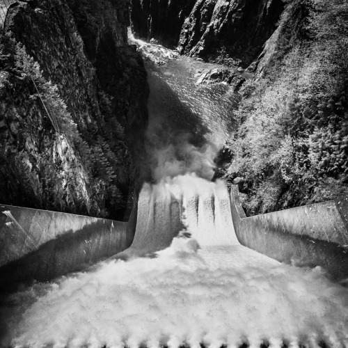 Cleveland Dam on the Capilano River, British Columbia, Canada.