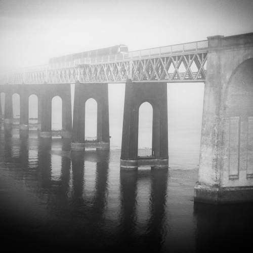 The southern end of the Tay Railway Bridge, Wormit, Fife, Scotland.