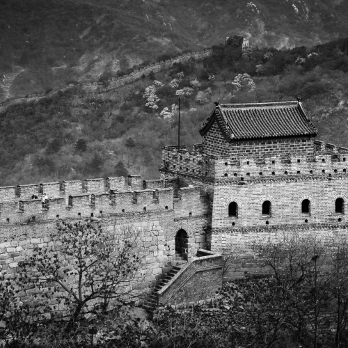 Fortress on the Great Wall of China at Mutianyu, near Beijing.