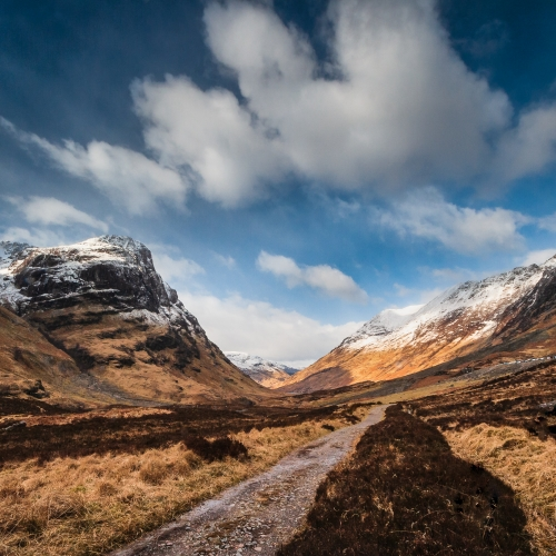 Glencoe from the old public road, Scotland.