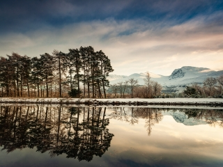 Ben Nevis and the Caledonian Canal at Banavie, Lochaber, Scotland.
