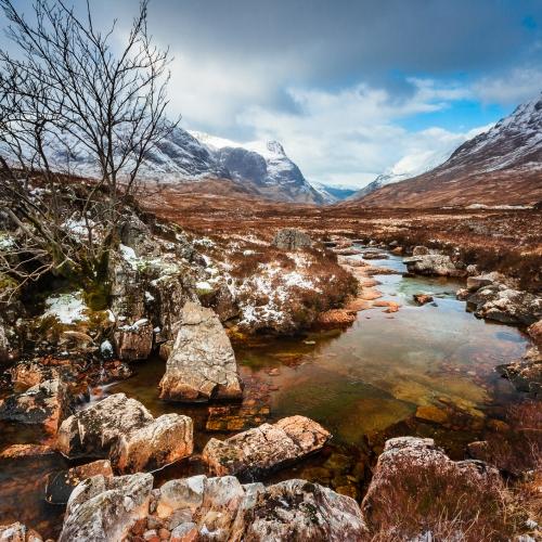 The Pass of Glencoe, Scotland.