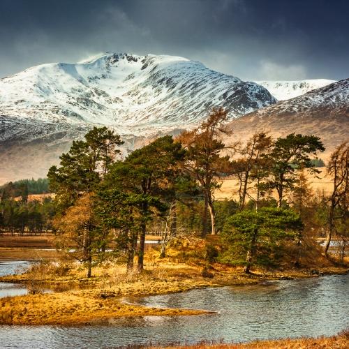 Loch Tulla and Stob Gabhar, The Black Mount, Scotland.