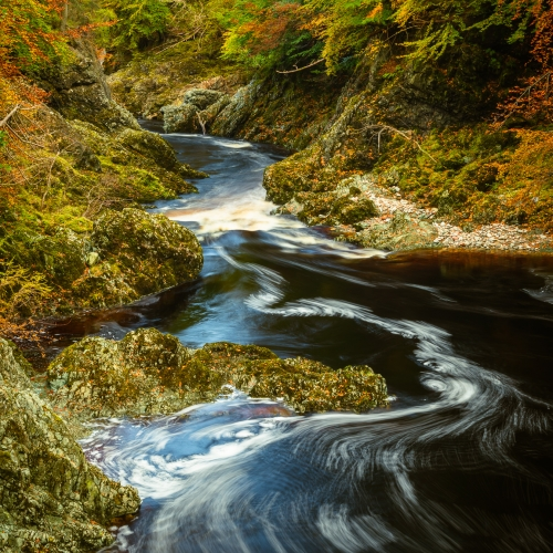 Loups of Esk, River North Esk, Angus, Scotland.