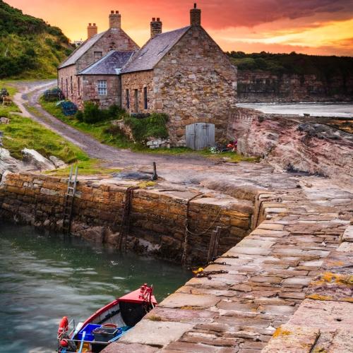 Cove Harbour, Berwickshire, Scotland.