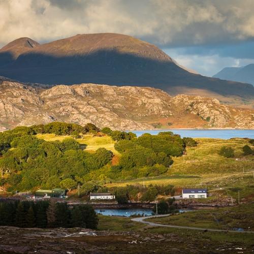 Beinn Alligin from Ardheslaig, Applecross, Scotland. AP034