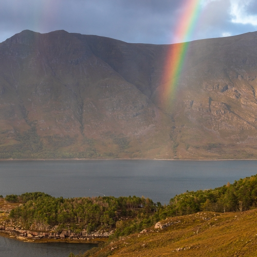 Rainbow over Liathach, Wester Ross, Scotland. AP035