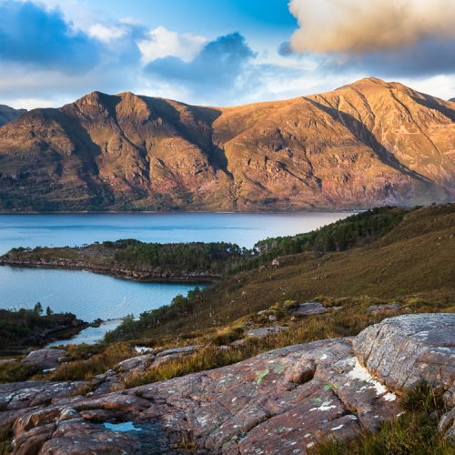 Last light on Liathach, from Applecross, Wester Ross, Scotland. AP037
