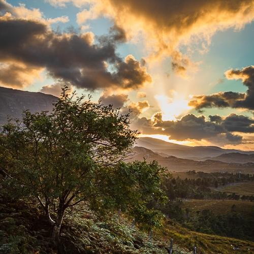 Sunset over Applecross, Wester Ross, Scotland. AP038