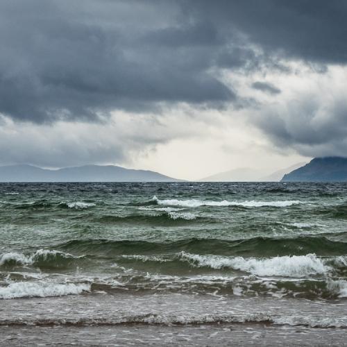 Grey sea off Sand, Applecross, Scotland. AP011