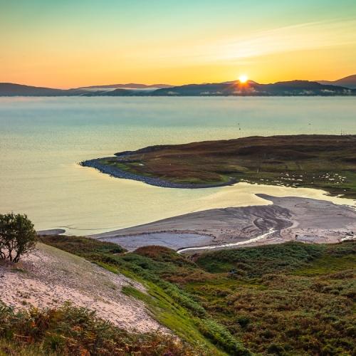 Sunset over Sand, Applecross, Scotland. AP001