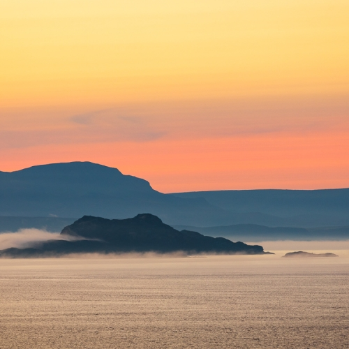 Skye, Raasay and Rona across the Inner Sound from Applecross, Scotland. AP002