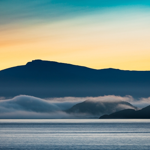 Raasay, Rona and Skye from Applecross, Wester Ross, Scotland. AP003