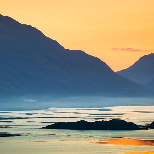 Sunrise over Upper Loch Torridon from Applecross, Wester Ross, Scotland. AP006