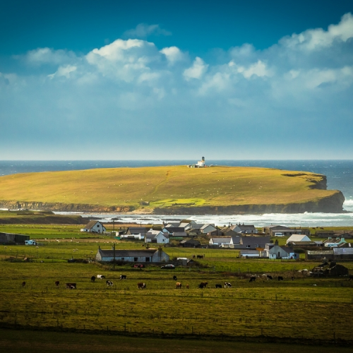 Brough of Birsay, from above Northside, Mainland, Orkney Islands. OR023