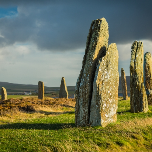 Part of the Ring of Brodgar neolithic stone circle, Mainland, Orkney OR026