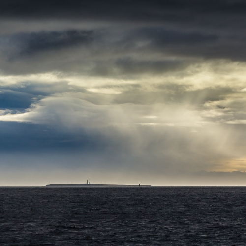 Dramatic weather over Muckle Skerry in the Pentland Firth OR031