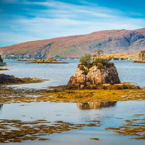 Rocky islet in Poll Domhain, Applecross, Scotland. AP021