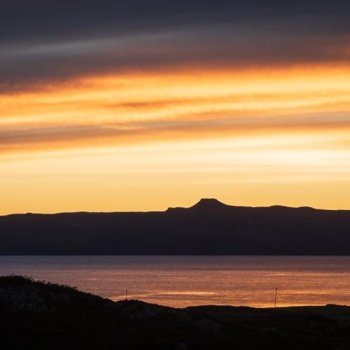 Dun Caan on Raasay from near Ardban, Applecross, Scotland. AP029